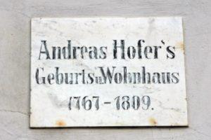 Andreas Hofer - Tafel an seinem Gasthaus