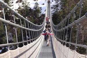 Hängebrücke bei Reutte in Tirol